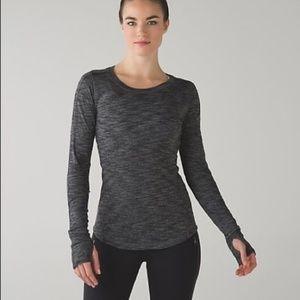 LULULEMON gray long sleeve size 6